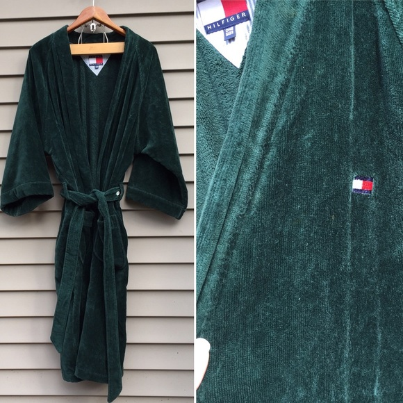 price reduced durable modeling website for discount Mens Tommy Hilfiger bath robe Colorblock logo